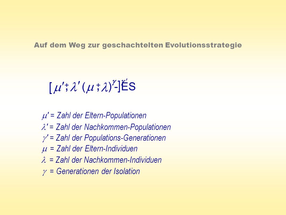 , , [ m   l m ] l ( ) - ES  m = Zahl der Eltern-Populationen